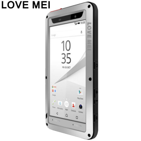 Love Mei Powerful Sony Xperia Z5 Protective Case - Silver