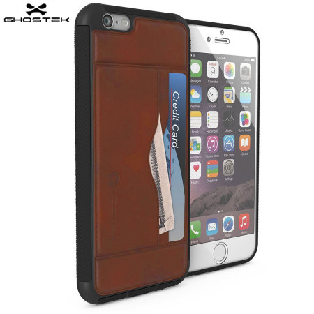 closer look ghostek stash iphone 6s 6 genuine leather wallet case light brown