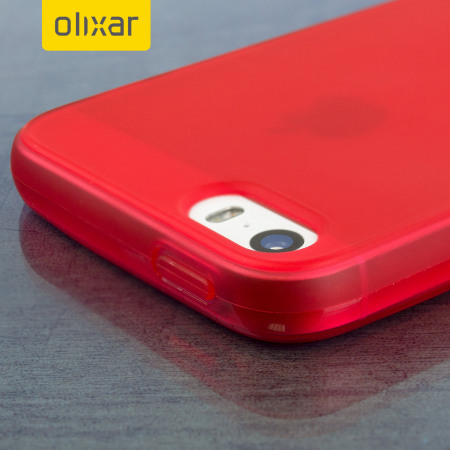olixar flexishield iphone se gel case - red reviews