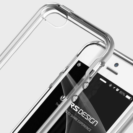 best service ba131 f9343 VRS Design Crystal Bumper iPhone SE Case - Satin Silver