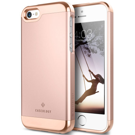 iphone rose gold case caseology savoy series iphone se slider gold 15414