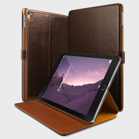 VRS Design Dandy Leather-Style iPad Pro 9.7 inch Case - Dark Brown