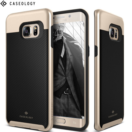 factory price e8753 adb7c Caseology Envoy Series Galaxy S6 Edge Case - Carbon Fibre Black