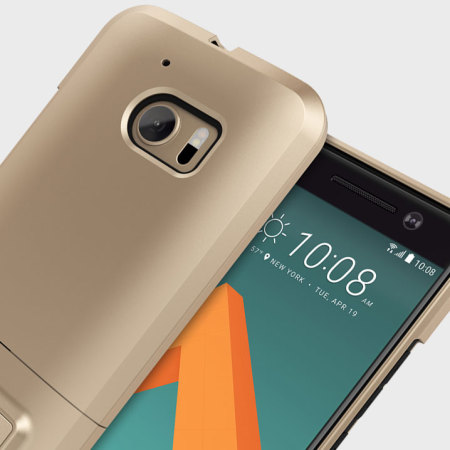 htc 10 case gold. seidio surface htc 10 case \u0026 metal kickstand - gold / black htc o