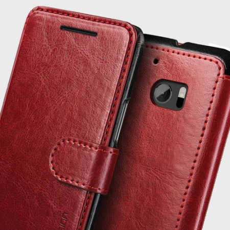 VRS Design Dandy Leather-Style HTC 10 Wallet Case - Red