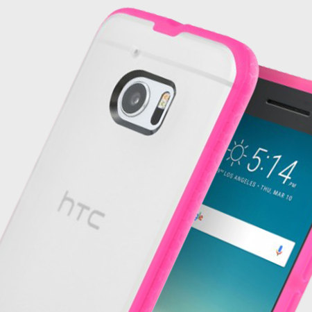 Incipio Octane HTC 10 Case - Frost / Hot Pink