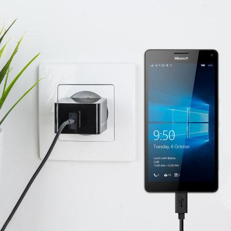Olixar High Power 2.4A Microsoft Lumia 950 Wall Charger - EU Mains