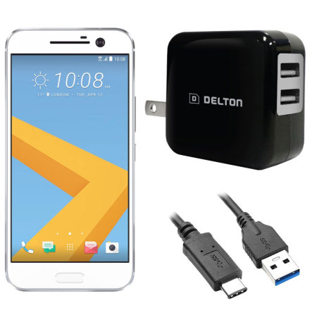 High Power 2.1A HTC 10 Wall Charger - USA Mains