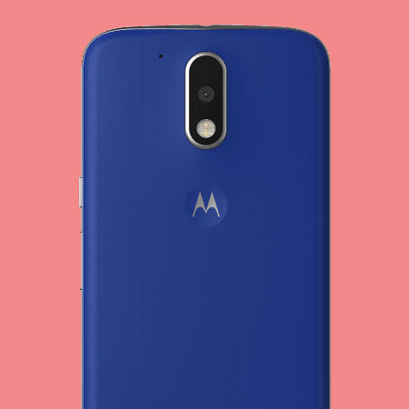 Official Moto G4 Shell Replacement Back Cover - Cobalt Blue