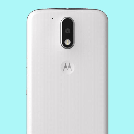 the best attitude cb489 57f54 Official Moto G4 Plus Shell Replacement Back Cover - Chalk White