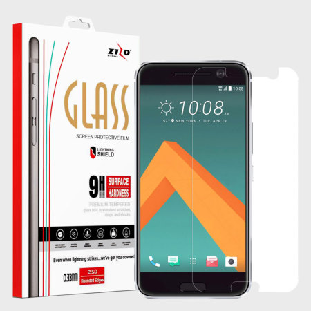 Zizo Lightning Shield HTC 10 Tempered Glass Screen Protector