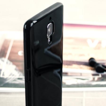 Olixar FlexiShield OnePlus 3T / 3 Gel Case - Midnight Black