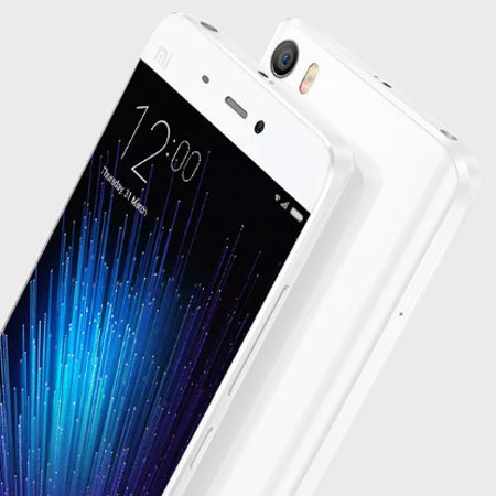 Olixar FlexiShield Xiaomi Mi 5 Gel Case - Frost White