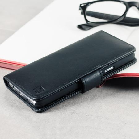 Olixar Genuine Leather Samsung Galaxy A3 2016 Wallet Case - Black