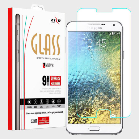 Zizo LightningShield Samsung Galaxy E5 Tempered Glass Screen Protector