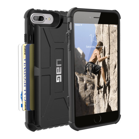 UAG Trooper iPhone 8 Plus / 7 Plus Protective Wallet Case - Black