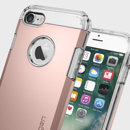 meet 0598f 1db3d Spigen Tough Armor iPhone 7 Case - Rose Gold