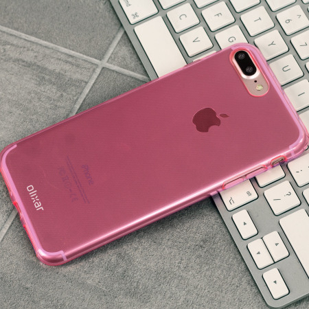 Olixar FlexiShield iPhone 8 Plus / 7 Plus Gel Case - Pink