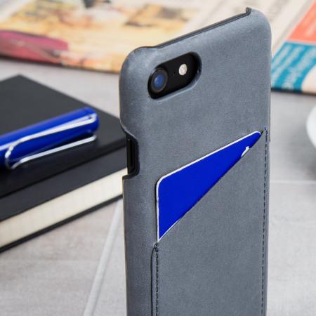 coque iphone 7 cuir gris