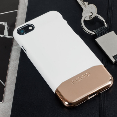 new style f96b6 60446 Incipio Edge Chrome iPhone 8 / 7 Case - White Opal / Chrome Rose Gold