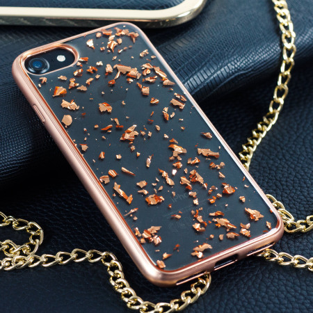 Prodigee Scene Treasure iPhone 7 Case - Rose Gold Sparkle