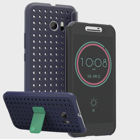 phones official htc 10 klik ice view case graphite blue there