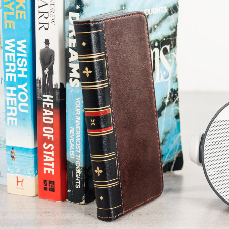 Olixar X-Tome Leather-Style iPhone 8 / 7 Book Case - Brown