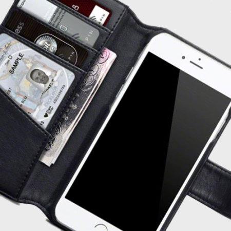 Housse iphone 7 plus portefeuille cuir v ritable noire for Housse iphone 7 plus cuir