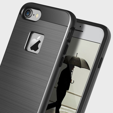 Obliq Slim Meta iPhone 7 Case - Black Titanium