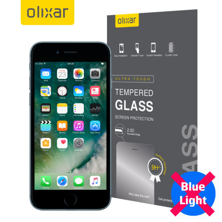 Olixar iPhone 7 Plus Anti-Blue Light Tempered Glass Screen Protector