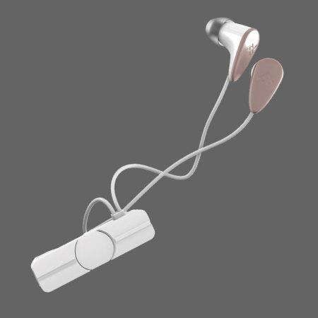 Auriculares Bluetooth Zagg IFROGZ Carism  - Blancos /Oro Rosa
