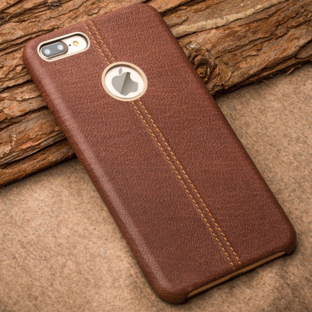 Premium Genuine Leather iPhone 7 Plus Case - Brown