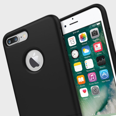 Seidio SURFACE iPhone 7 Plus Case & Metal Kickstand - Black
