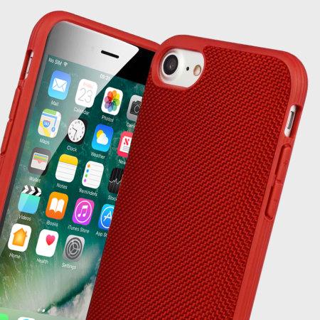 info for 49725 a8477 Evutec AERGO Ballistic Nylon iPhone 7 Tough Case - Red
