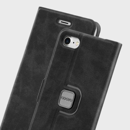Odoyo Spin Folio iPhone 7 Case - Sesame Black