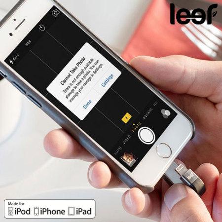 Leef iBridge 3 128GB Mobile Storage Drive for iOS Devices - Black