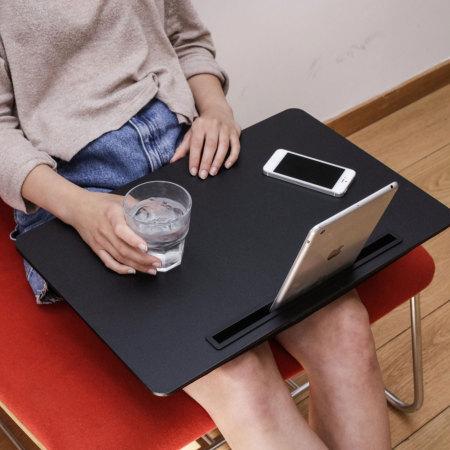 Kikkerland iBed Extra Large Lap Desk W/ Tablet & Phone Holder - Black