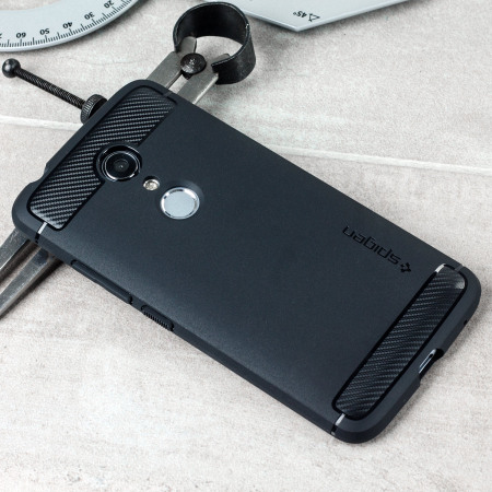 new product b45ff d3299 Spigen Rugged Armor ZTE Axon 7 Tough Case - Black