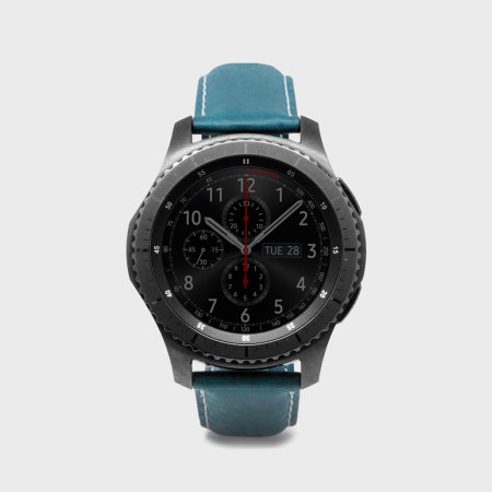 SLG D6 Samsung Gear S3 Minerva Box Leather Strap - Blue