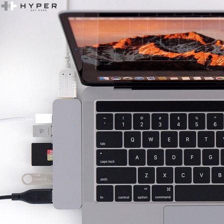 HyperDrive Compact Thunderbolt 3 USB C MacBook Pro Hub Space Grey