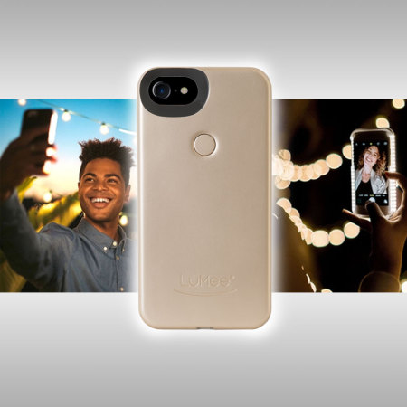 20624d8ae93 Funda iPhone 7/ 6S / 6 LuMee Dos con Luz para Selfies - Oro