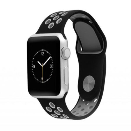 Hoco Apple Watch 3 / 2 / 1 Strap - 38mm - Black / Gray