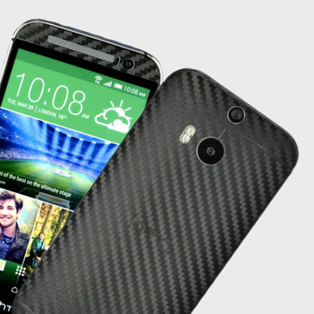 Easyskinz HTC One M8 3D Textured Carbon Fibre Skin - Black