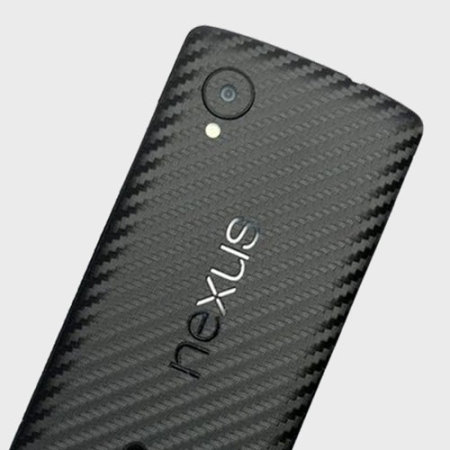 Easyskinz Google Nexus 5 3D Textured Carbon Fibre Skin - Black