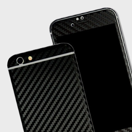 reputable site 06dc6 3ec2c Easyskinz iPhone 6S Plus / 6 Plus 3D Texture Carbon Fibre Skin - Black