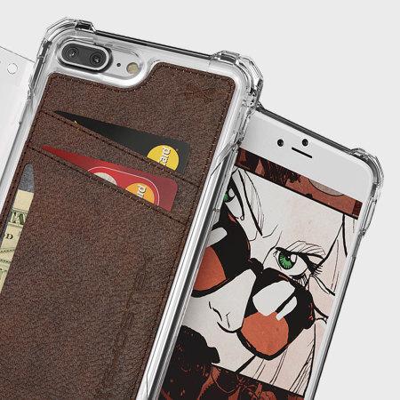 coque iphone 7 plus ghostek exec series portefeuille marron avis. Black Bedroom Furniture Sets. Home Design Ideas