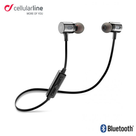 Cellular Line Motion In-Ear Bluetooth Headphones with Built-In Remote