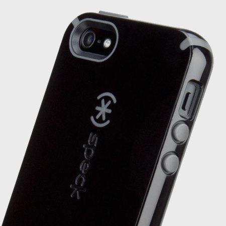 Coque iPhone SE Speck CandyShell Grip – Noir / Gris Ardoise