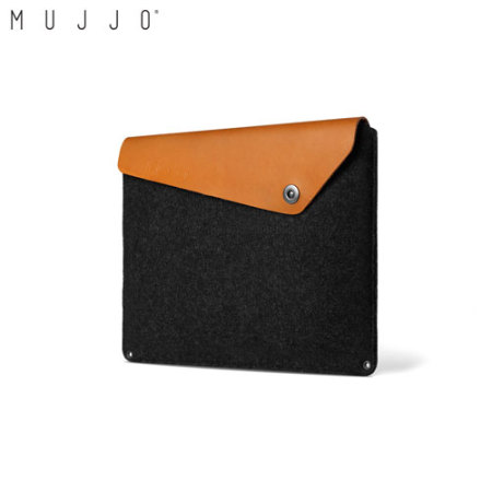 Mujjo MacBook Pro 13 USB-C no Touch Bar Leather Sleeve - Black / Tan