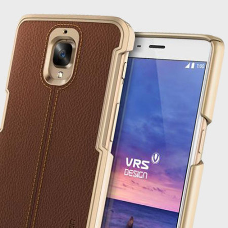 VRS Design Simpli Mod Leather-Style OnePlus 3T / 3 Case - Brown